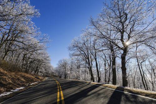 winter skyline drive ice