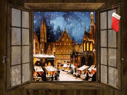 winter christkindlesmarkt christmas market