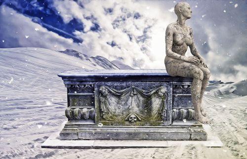 winter death coffin
