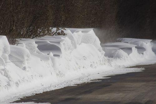 winter snow snowdrift