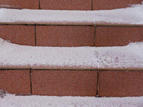 winter snow stairs