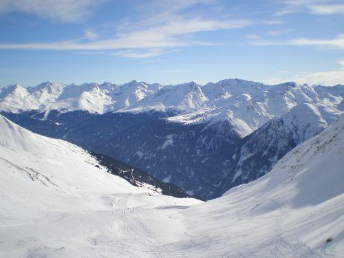 winter mountains runway