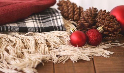 winter christmas flatlay