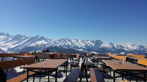 winter mountains ski lodge