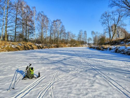 winter river frozen river