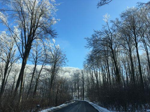 winter highway road conditions