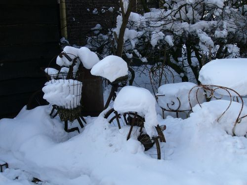 žiema,sniegas,šaltis,echten,drenthe,žiemos scenos,varveklių,dviratis,ledas,sniego kraštovaizdis