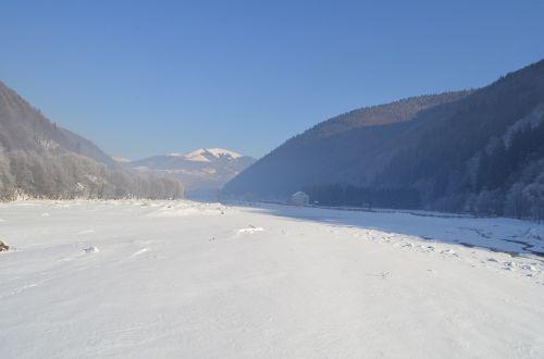 winter mountains the carpathians
