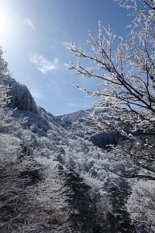 winter snow mountain jeju island