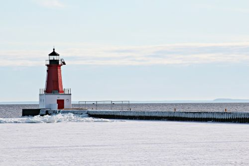 winter scenic lighthouse
