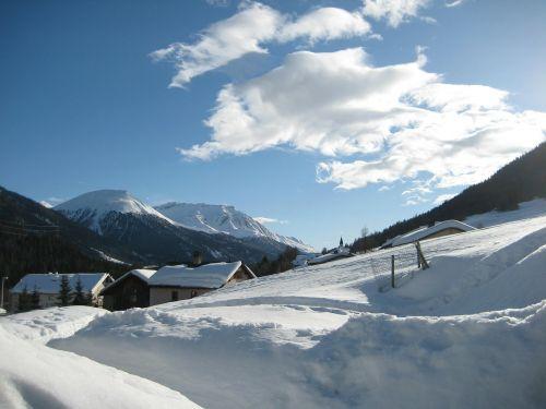 winter alpine snow