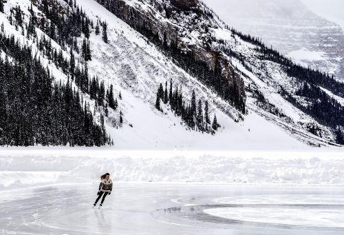 winter skating ice