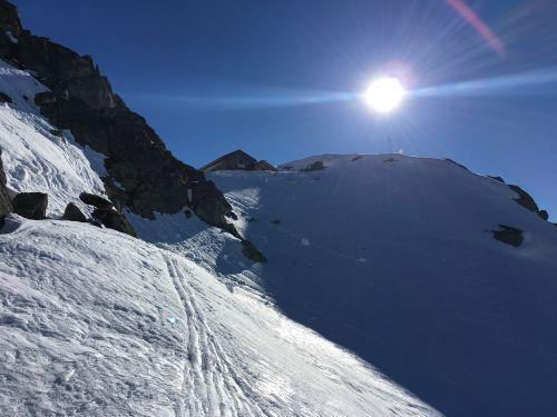 winter ski touring middle mountain cabin