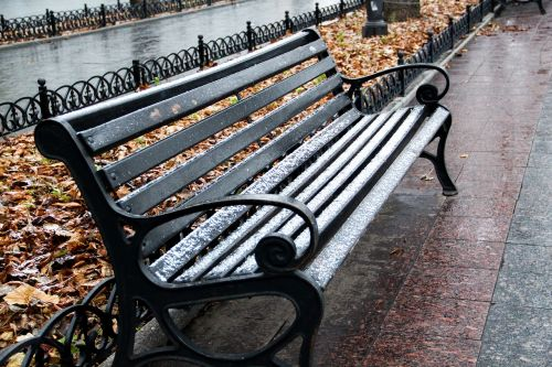 winter chair snow