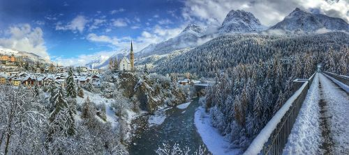 winter snow church
