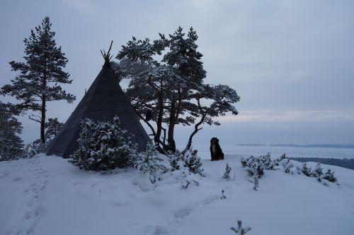 winter tourism tipi