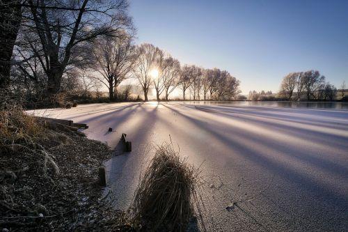 winter lake cold