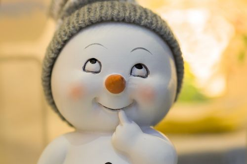 winter snow man gift