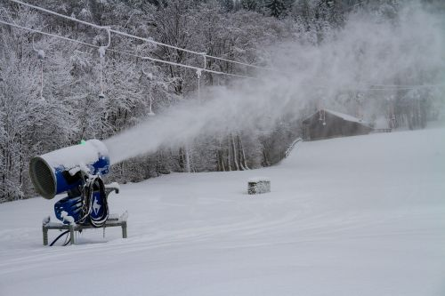 winter snow cannon snowmaking