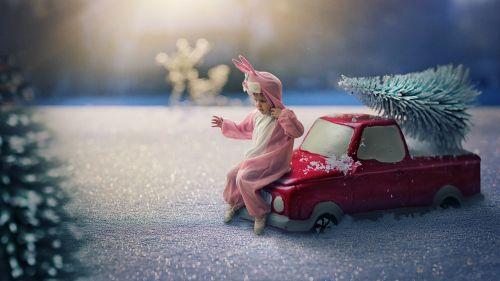 winter miniature manipulation