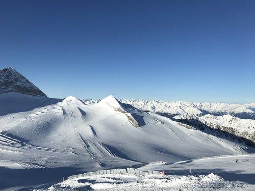 winter  ski area  panorama