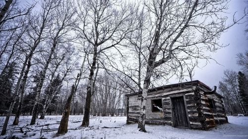 winter hut loneliness
