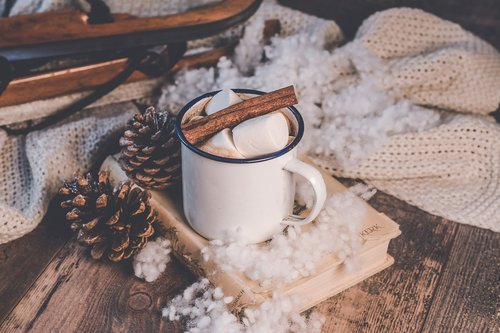 winter  background  coffee