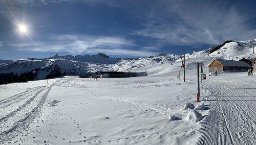 winter  flumserberg  panorama