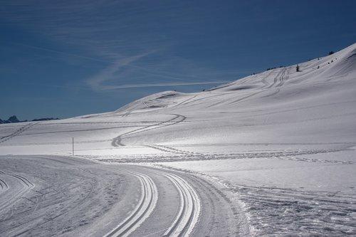 winter  snow  sky