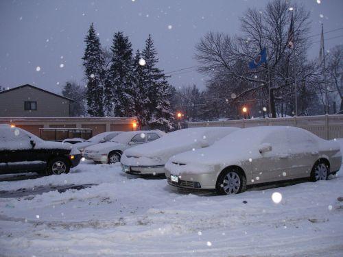 winter cars parking