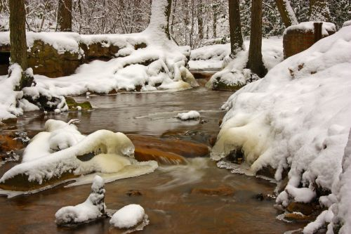 winter bach river