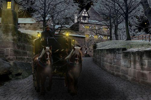 winter coach castle