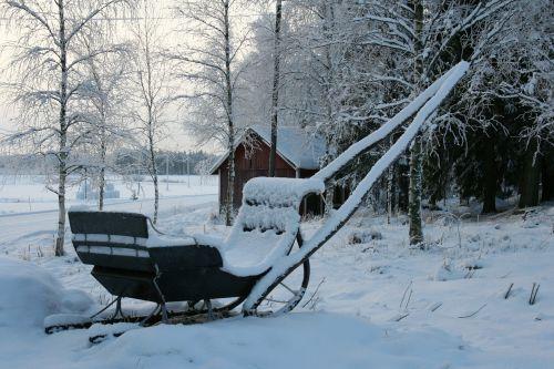 winter sleigh snow