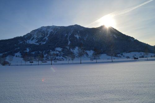 winter sunrise cold