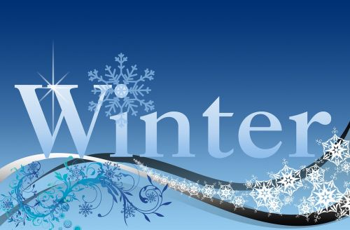 winter winter time lettering