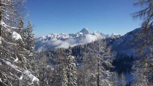 winter mountains ski tour
