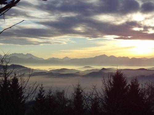 winter clouds landscape