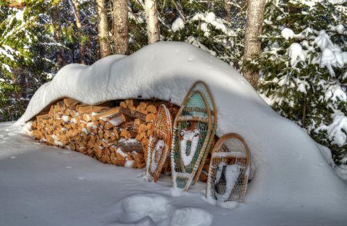 winter snowshoes snow