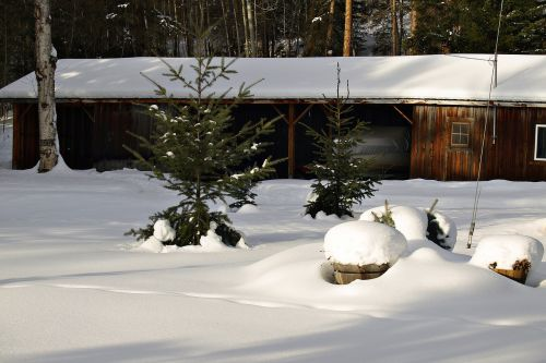 winter building shed