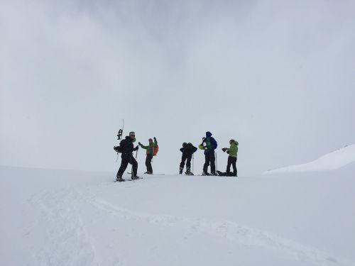winter back country skiing ski