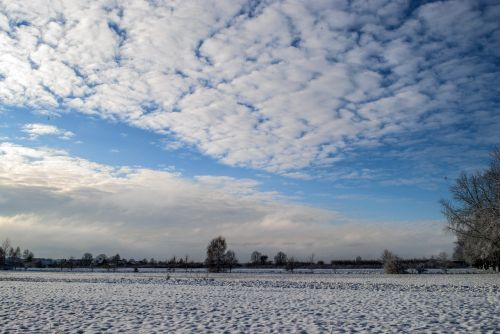 winter snow sky