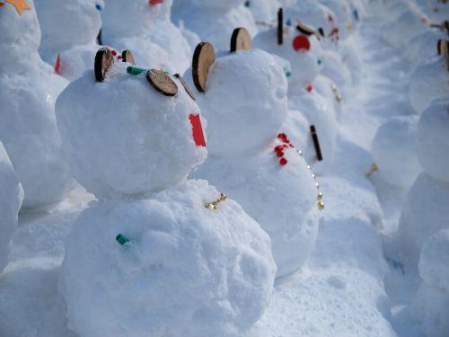 winter snowman japan winter