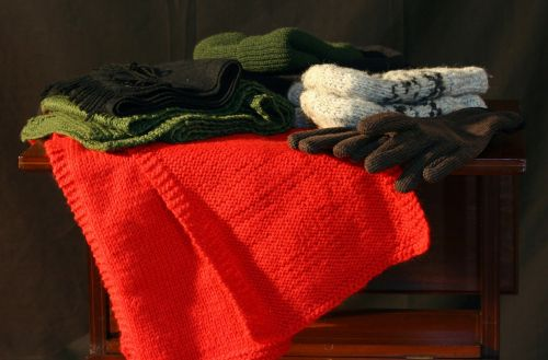 winter clothes hats gloves