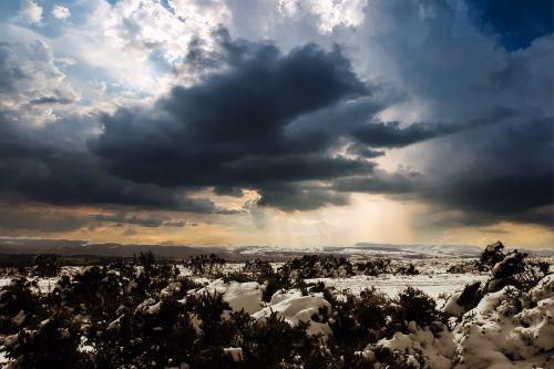 winter landscape wales sky