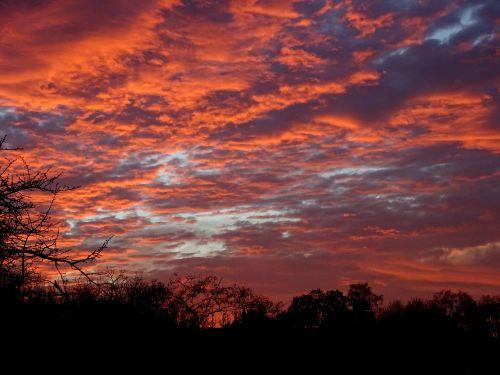winter sky sunset germany