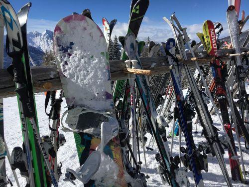 winter sports mountains snow