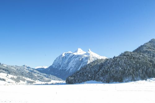 kraštovaizdis, snieguotas & nbsp, kraštovaizdis, sniegas, kalnas, žiema, šaltas, kalno viršūnė, snieguotas, Alpės, žiemos & nbsp, kraštovaizdis, žiemos peizažas