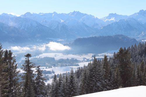 wintry allgäu ski area