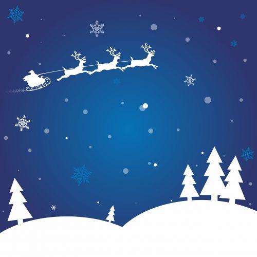 wintry snow christmas