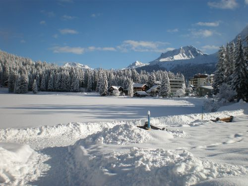 wintry switzerland arosa